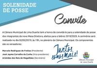 CONVITE- POSSE DA MESA DIRETORA 2019/2020