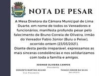 Nota de Pesar 23/03/2021